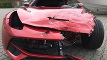 Crashed Ferrari F12 Berlinetta