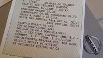 Nissan Note 1.2 GPL, test di consumo reale Roma-Forlì