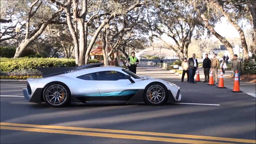 See the Mercedes-AMG Project One driving about in the real world