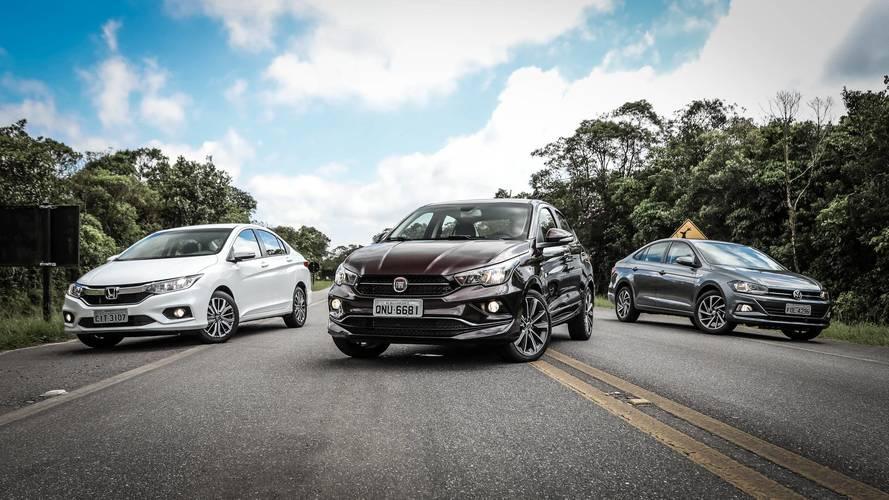 Comparativo Fiat Cronos x VW Virtus x Honda City - Tempo de ambições