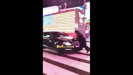 Mercedes C63 Hoon Hits NYC Cop In Times Square [UPDATE]