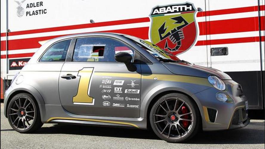 Abarth 695 biposto, pronta a gareggiare a Goodwood