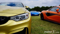 BMW M4, McLaren 650S, Lamborghini Huracan Spyder at 2017 Goodwood Festival of Speed