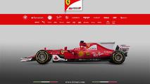 2017 Ferrari SF70H F1 car