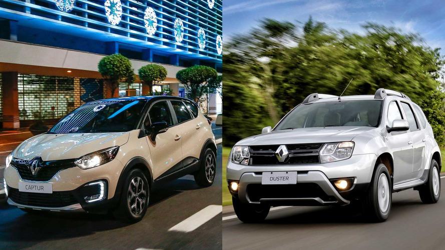 Renault dá descontos de até R$ 8.460 para Captur, Duster e Oroch