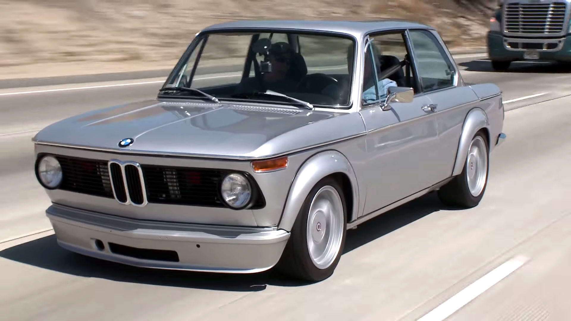 Bmw 2002 Tii For Sale >> Jay Leno Welcomes BMW 2002 With M3 Engine Into His Garage