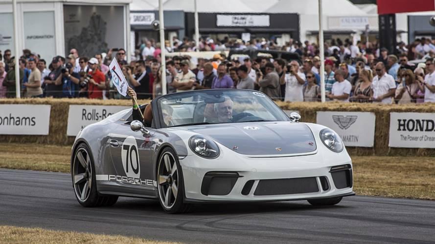 Retro görünümlü Porsche 911 Speedster Goodwood'da yer aldı