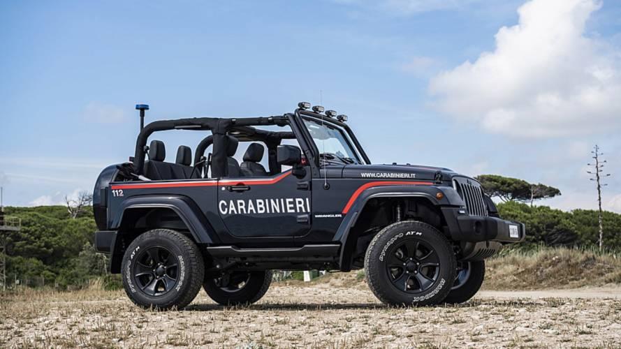 La Jeep Wrangler arruolata nei Carabinieri