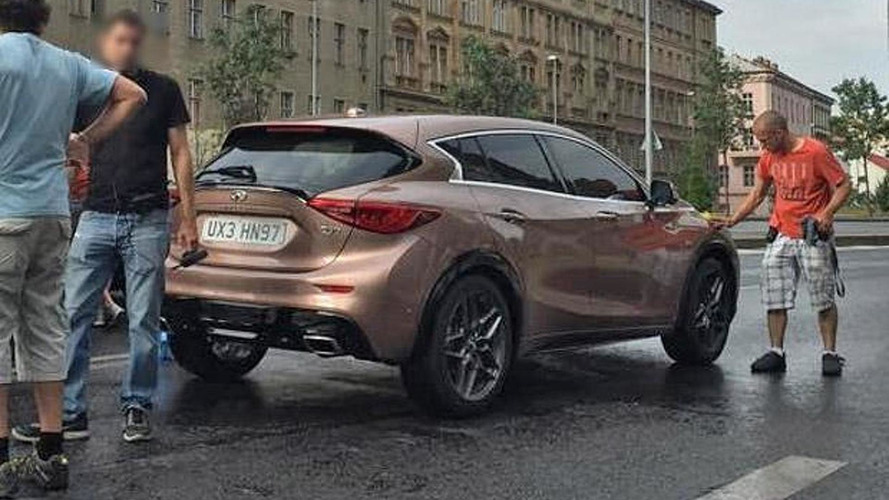 Infiniti Q30 spotted during ad filming in Prague