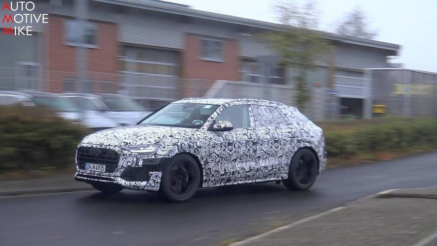 Audi Q8 Spied Testing At Full Throttle On The Nurburgring