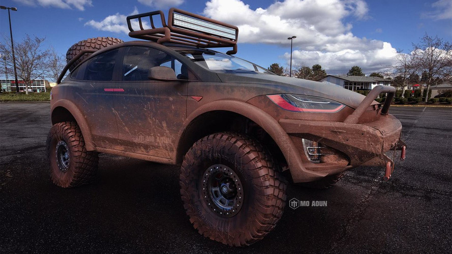 Tesla Model X Envisioned As Hardcore Off-Road SUV