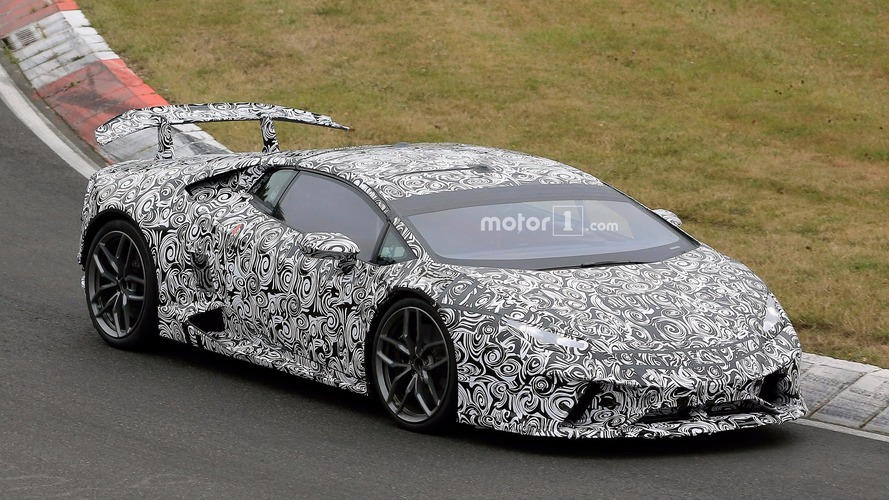 Lamborghini Huracan Superleggera spied speeding around the Nurburgring