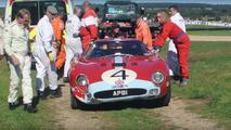 Ferrari 250 GTO driver drops F-bombs after crash at Goodwood Revival