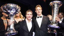 Sebastien Loeb and Jenson Button, Brawn GP