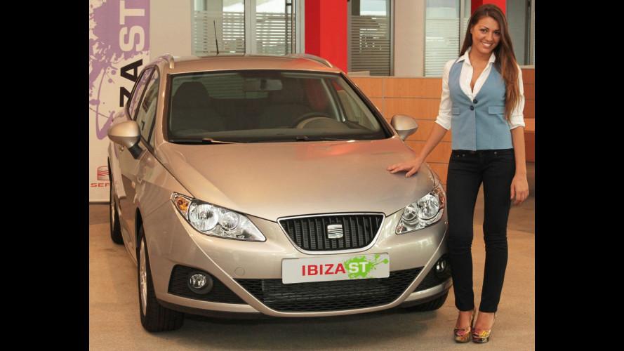 Una Seat Ibiza ST 1.6 TDI per DJ Ylenia