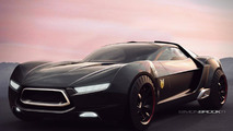 Ford Mad Max Interceptor concept artist rendering by Simon Brook 30.03.2011