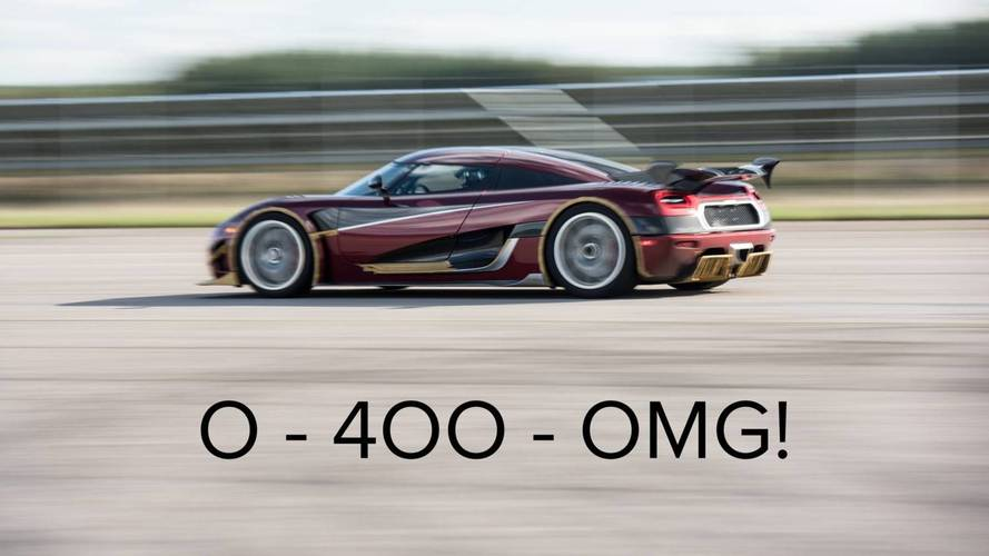 Koenigsegg smashes the race from 0-400km/h back to zero