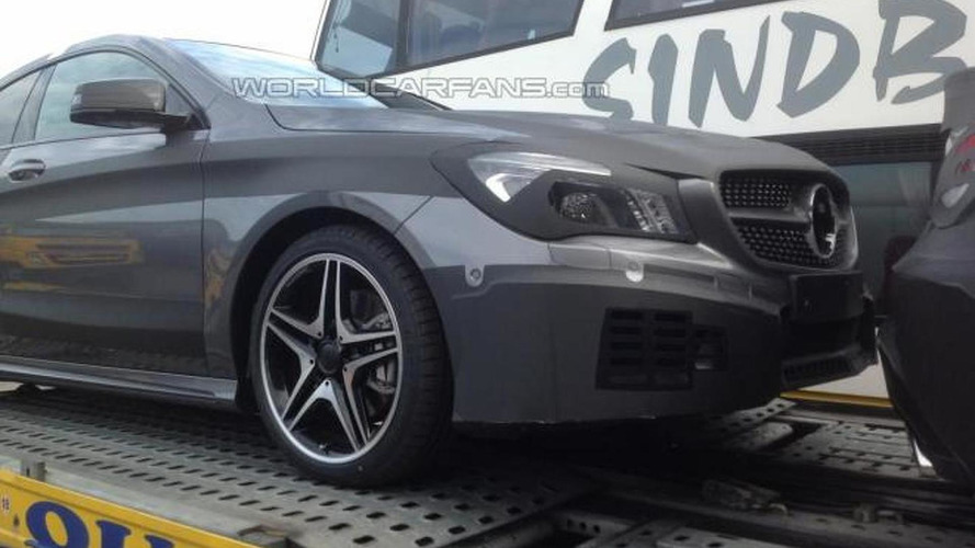 EXCLUSIVE: Mercedes-Benz CLA 45 AMG spied with floating 'dots' grille