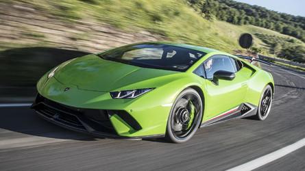 Supercars Lamborghini Huracan Performante On The Autobahn Is Pure Pleasure
