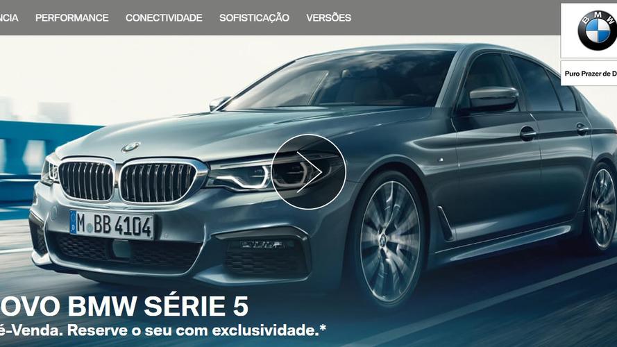 Novo BMW Série 5 já aparece em site nacional - e com reservas