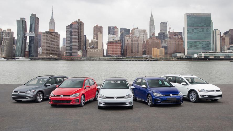 2018 Volkswagen Golf ailesi tam kadro ile New York'a gidiyor