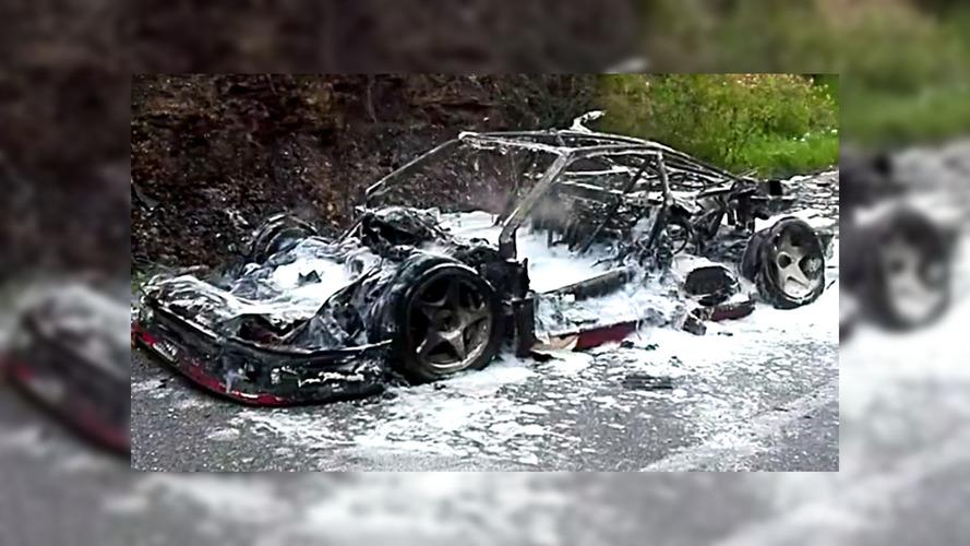 Ferrari F40 Prototype Burnt To A Crisp
