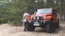 Stewart Harding with his Jeep