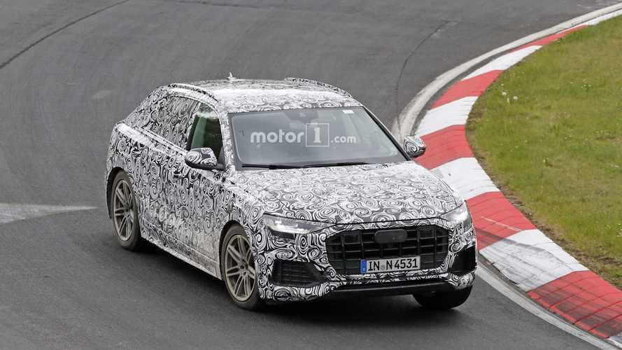 2019 Audi Q8 new spy shots from the Nurburgring