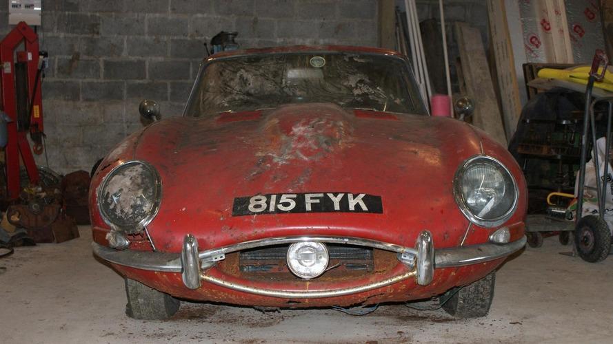 Jaguar E-Type found under a bush sells for $74k at auction