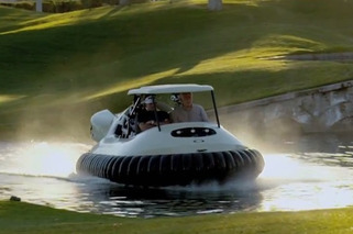 Video: Hovercraft Golf Cart Makes Golf Relatively Interesting Again