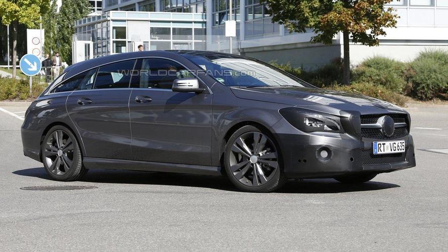 Mercedes CLA & CLA Shooting Brake facelift spied