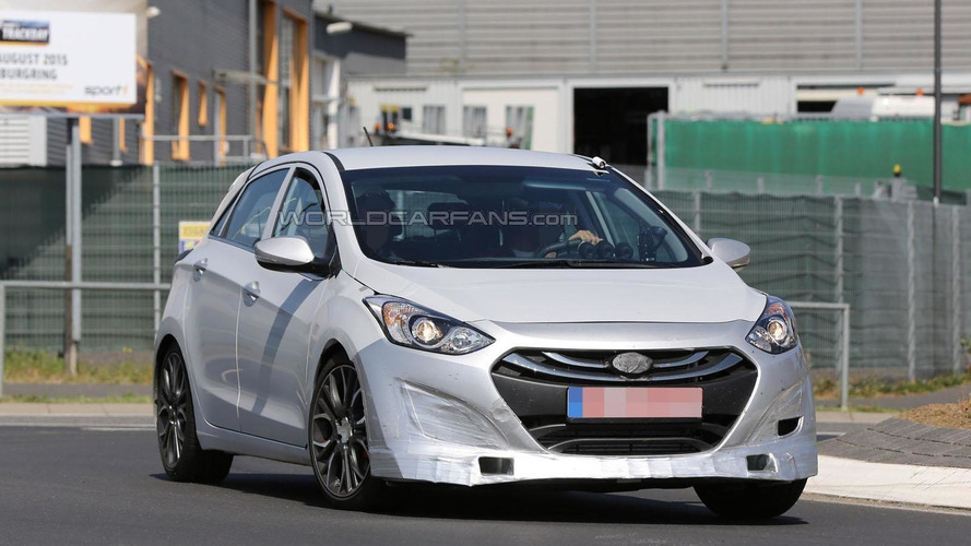 Hyundai i30 N prototype spied at the Nurburgring