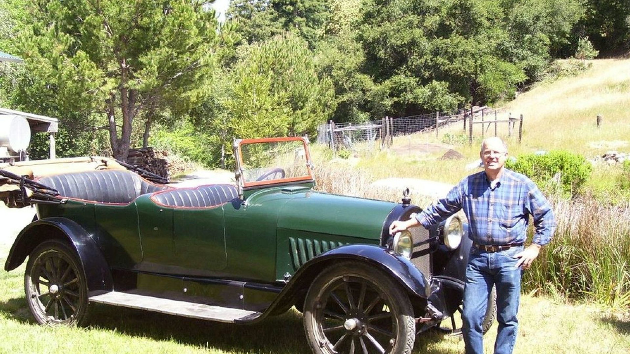 Luke Rizzuto and his 1918 Chevy V8 Touring
