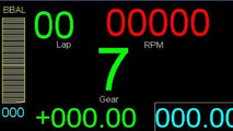 McLaren PCU-8D steering wheel LCD display module