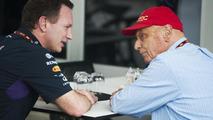 Christian Horner (GBR) with Niki Lauda (AUT), 29.03.2014, Malaysian Grand Prix, Sepang / XPB