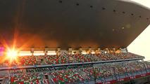 Circuit main start - finish grandstand 24.10.2013 Indian Grand Prix