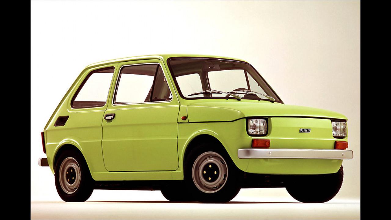 Fiat 126: rund 5 Millionen (1972 bis 2000)