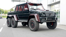 Mercedes-Benz G63 AMG 6x6 with red carbon fiber by Brabus