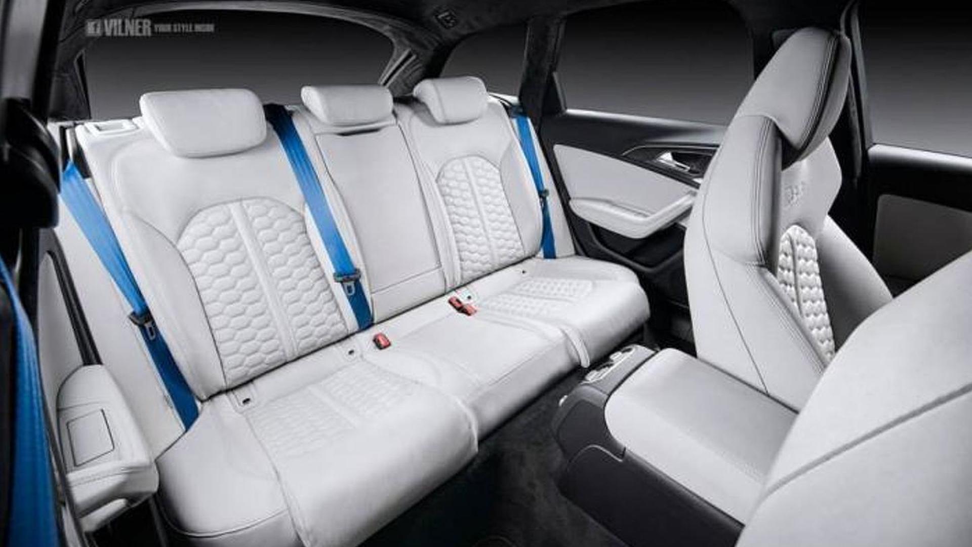 Обивка салона нубуком Audi RS6 Avant от Vilner