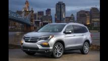 Irmão maior do CR-V, Honda Pilot 2016 ganha novo visual e fica mais econômico