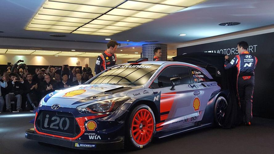Hyundai i20 2017 WRC aracı görücüye çıktı