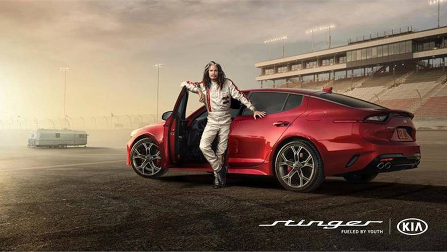 Steven Tyler Takes Kia Stinger Back In Time Super Bowl Ad