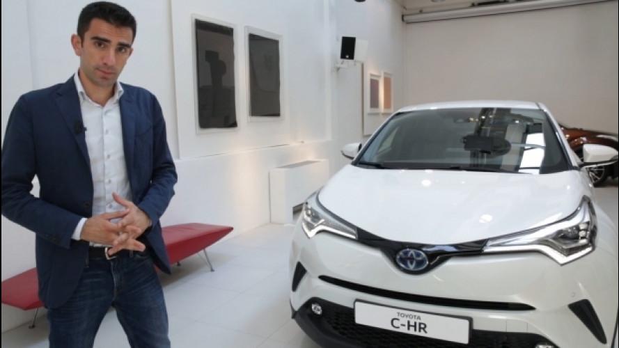 Toyota C-HR, l'ibrido con stile in formato SUV [VIDEO]