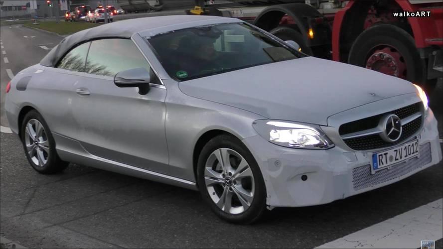 Makyajlı Mercedes C Serisi Cabriolet kış testinde yakalandı