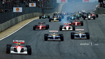 Start- Ayrton Senna, McLaren leads