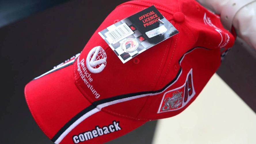 Schu 'comeback' caps on sale at Spa