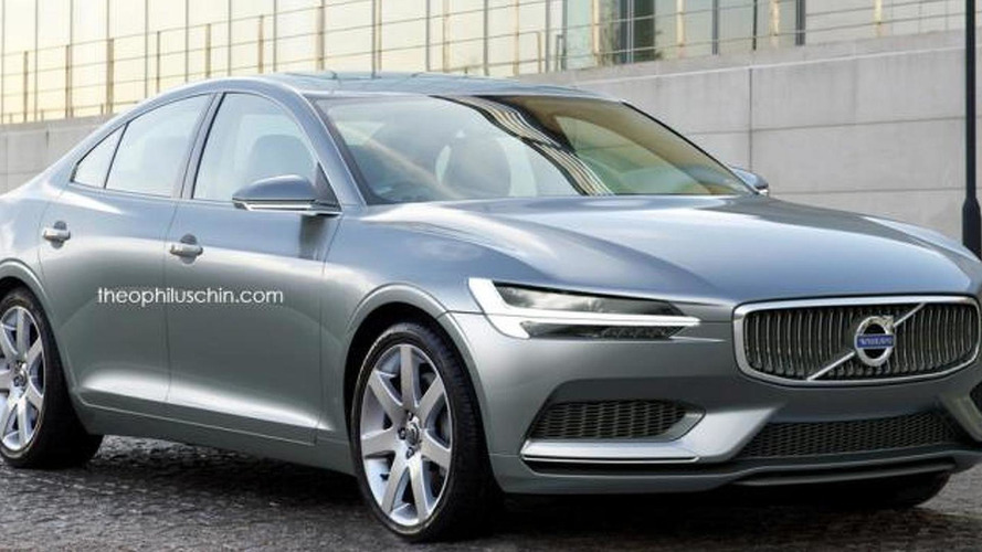 Volvo S80 rendered as a future flagship model