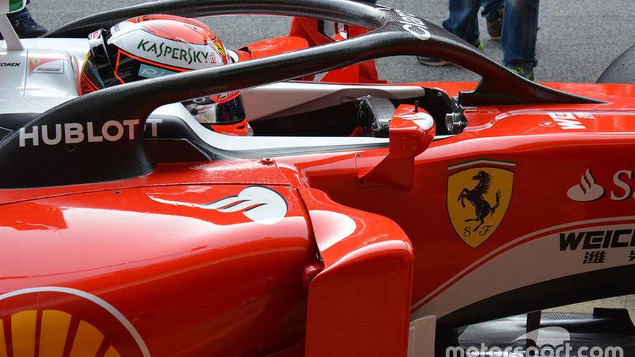 Raikkonen tests F1 Halo cockpit system