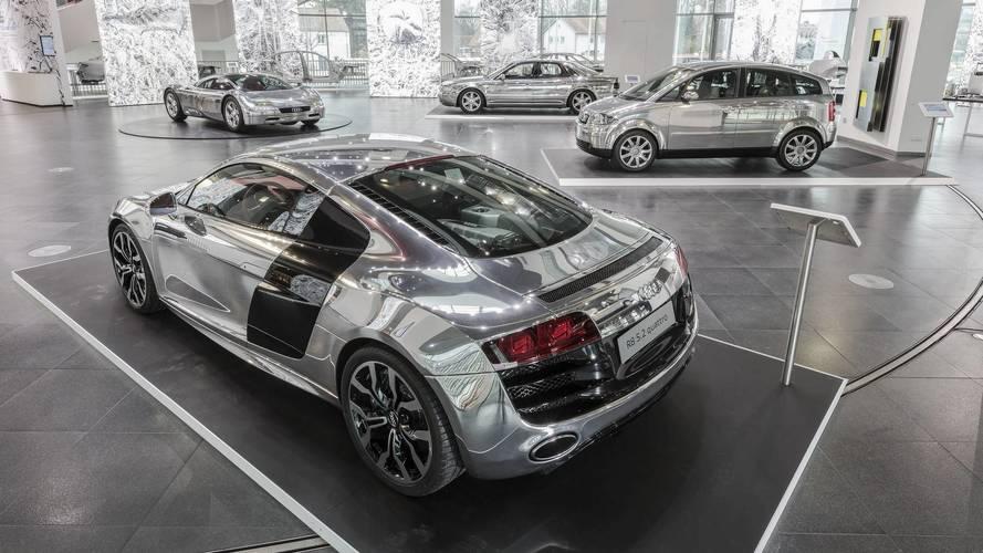 Audi exhibe sus modelos construidos en aluminio