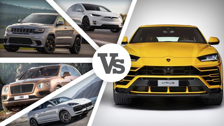 Lamborghini Urus, sfida a 5 fra Super SUV